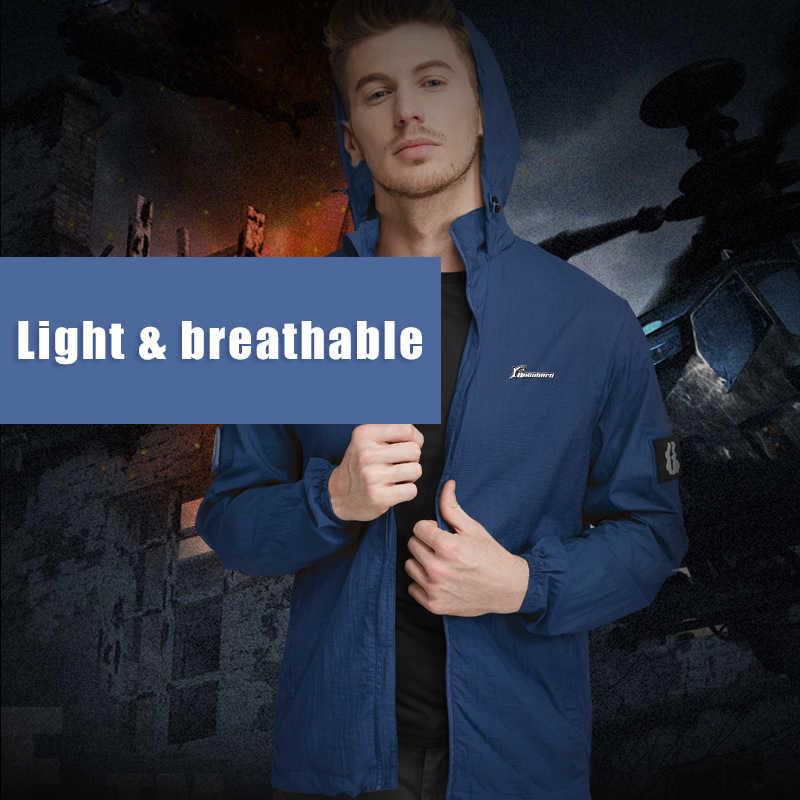 Солнцезащитная одежда для рыбалки мужская кожаная куртка ультра-тонкая дышащая быстросохнущая летняя спортивная одежда ветровка тактическая куртка