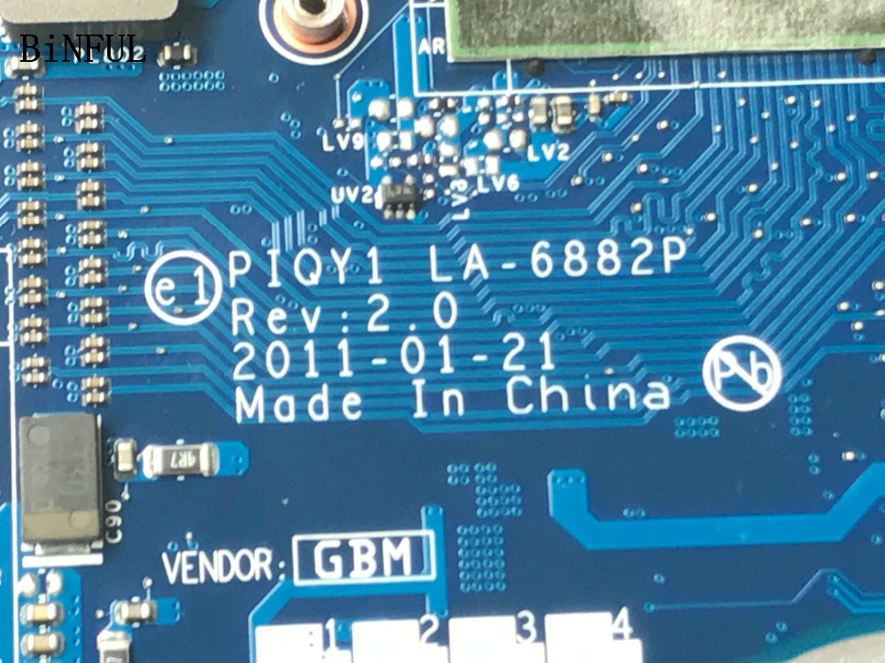 BiNFUL 100% TESTED LA-6882P REV : 2.0 (REV :1.0 )  FOR LENOVO  Y570  LAPTOP MOTHERBOARD GT555 1GB VIDEO CARDBiNFUL 100% TESTED LA-6882P REV : 2.0 (REV :1.0 )  FOR LENOVO  Y570  LAPTOP MOTHERBOARD GT555 1GB VIDEO CARD