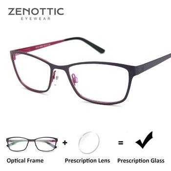 8af257ed2 ZENOTTIC gafas para mujeres marco miopía Anti-Blue-Ray gafas marco óptico  hipermetropía fotocromáticos gafas