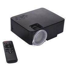 Mini Proyector LED 1500LM para el cine de Cine en Casa Proyector de Vídeo Portátil Al Aire Libre Partes de la Ayuda 1080 P HDMI VGA AV USB Audio