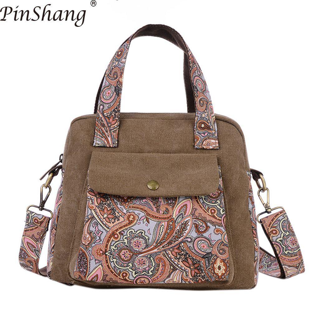 Woman Canvas Crossbody Bag Casual All-match Messenger Shoulder Bags Versatile Handbag Gifts Purse Bags For Women 2018 KZ5