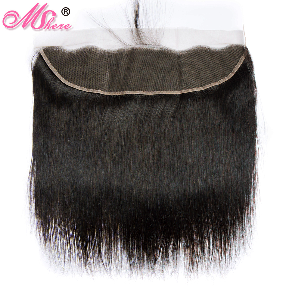 Lace Frontal Closure with Baby Hair Peruvian Straight Hair 100 Human Hair Pre Plucked Lace Closure