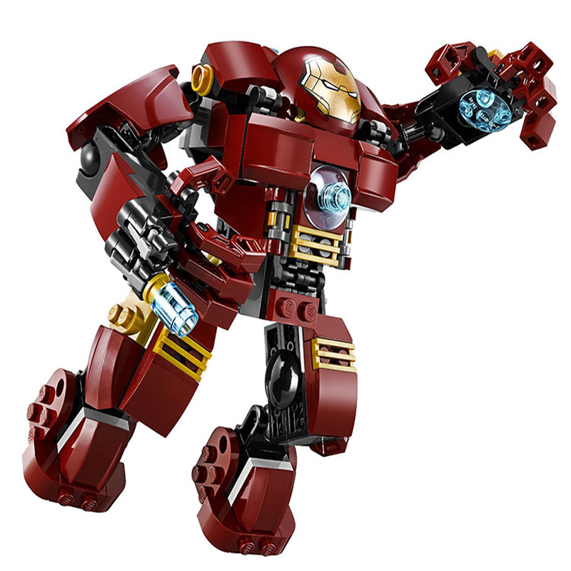 7110 Marvel Avengers Building Blocks Ultron Iron Man Hulk Buster Bricks Toys Compatible With LEPINE marvel super heroes avengers wonda iron man mk anti hulkbuster thor vision ultron assemble building blocks minifig kids toys