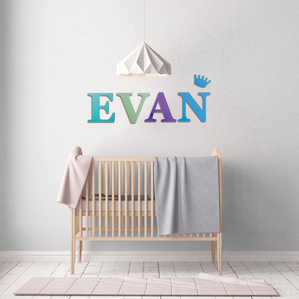 Us 1 9 5 Off Nursery Letters Baby Name Individual Wood Wooden For Decoration Over The Crib Sign 18 Colors In Decorative