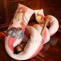700*50 см Monster Musume No Iru Nichijou Miia Подушка «Dakimakura» чехол обнимающий украшение тела Аниме Костюм Аксессуар отаку подарок
