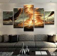 Gathering Magic Game 5 Pieces Print Poster Canvas Painting Wall Art Living Room HD Print Painting Modern Home Decor Artwork