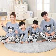 Family Matching Pajamas Cotton USA Russia Autumn Winter Chir