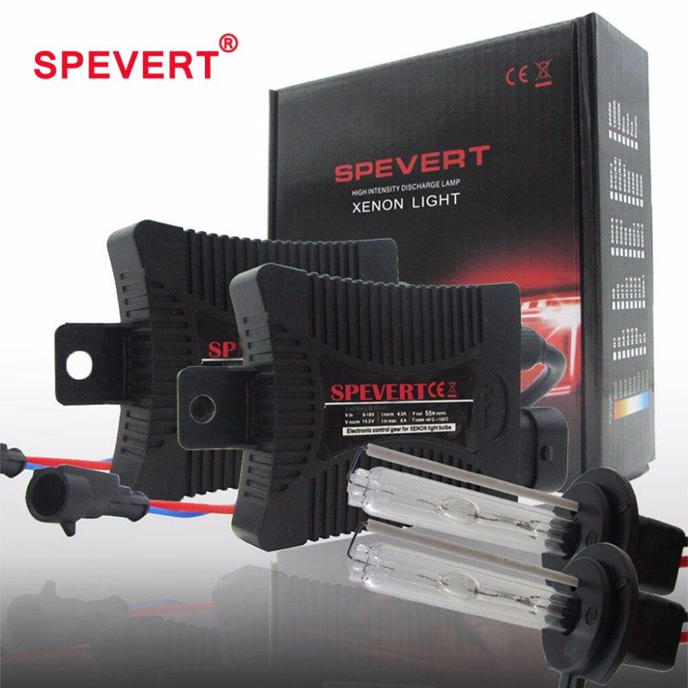 SPEVERT 55W Bi X-Enon Light H1 H3 H7 H4/9003 H11 9005/6 H27 XENON HID KIT Bulbs SLIM BALLAST 6000K 8000K 12V Car Headlight Lamp