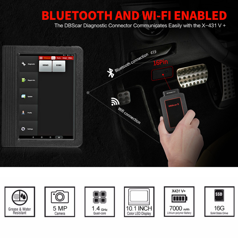 Image 5 - Launch X431 V+ V Plus X431 Diagnostic Auto Scanner Full System OBD2 OBDII Diagnostics Tool Wifi Bluetooth 2 Years Free Update-in Engine Analyzer from Automobiles & Motorcycles