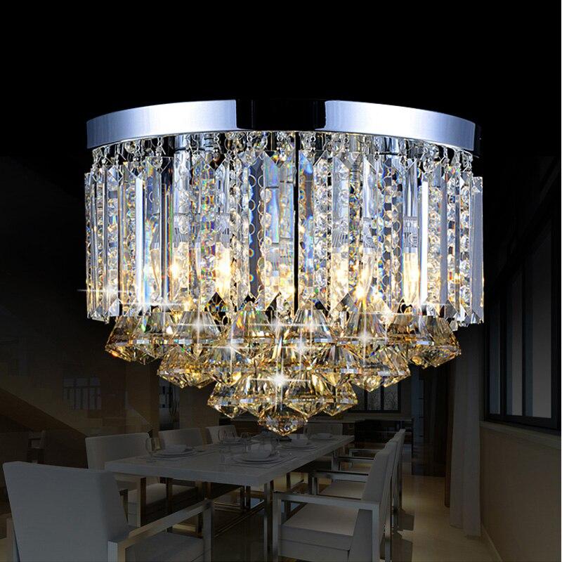 dining room diamond crystal light round ceiling lamp bedroom children room corridor mini led porch lighting home ceiling lights