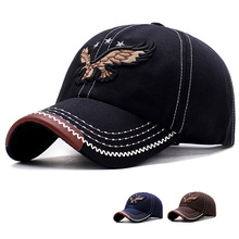 Eagle Star Embroidery Fashion Men and Women Baseball Cap Outdoor Hat Sunshade Sunscreen Adjustable Sport Traveling Hats