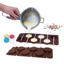 Пончик леденец плесень DIY формы для выпечки Силиконовые 3D ручной работы поп-присоски палочки леденец Конфеты шоколадный торт украшения плесень