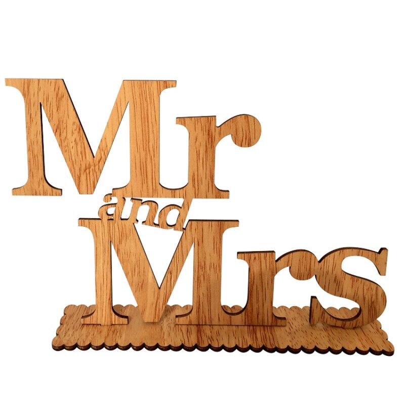 Прекрасный свадьбу с надписью Mr & Mrs Свадебные украшения романтический брак на день рождения Mr & Mrs свадьба знак Новинка 2017 года