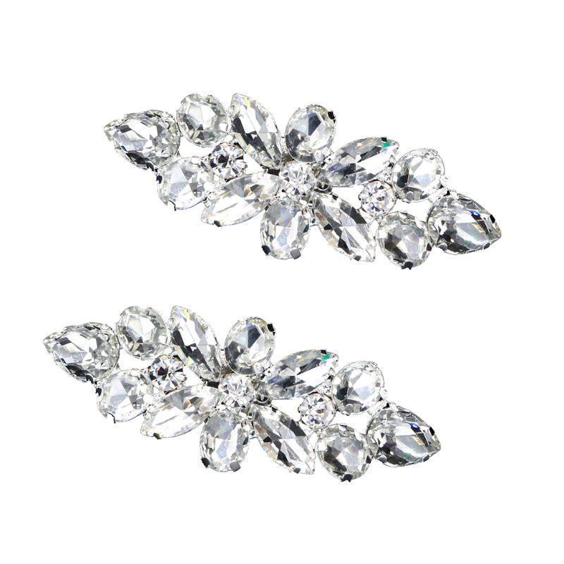 2pcs Shoe Clip High Heels Women Shoes Decoration Wedding Bridal Buckle Rhinestone Decorative Fashion Luxury DIY Accessories