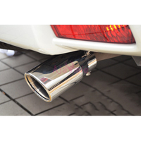 Car Styling #304 Stainless Steel Rear Tail Exhaust Muffler Tip Pipe For Toyota Land Cruiser 150 Prado LC150 FJ150 Accessories