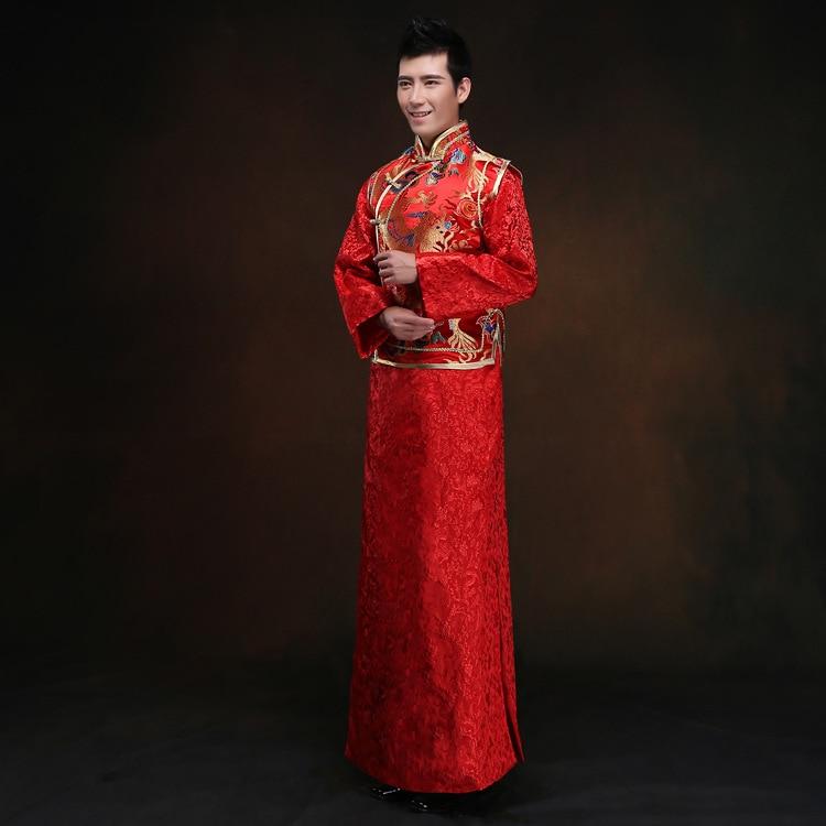 Online Shop chinese traditional dress men dragon cheongsam Chinese ...