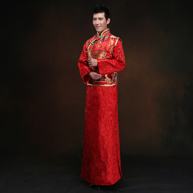 chinese traditional dress men dragon cheongsam Chinese Men married ...