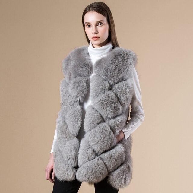 online store ce9b4 3ff5d US $409.98 |Delle donne di inverno nuovo vera pelliccia gilet reticolo  Genuino giacca di Pelle Naturale pelliccia di Volpe cappotto di pelliccia  gilet ...