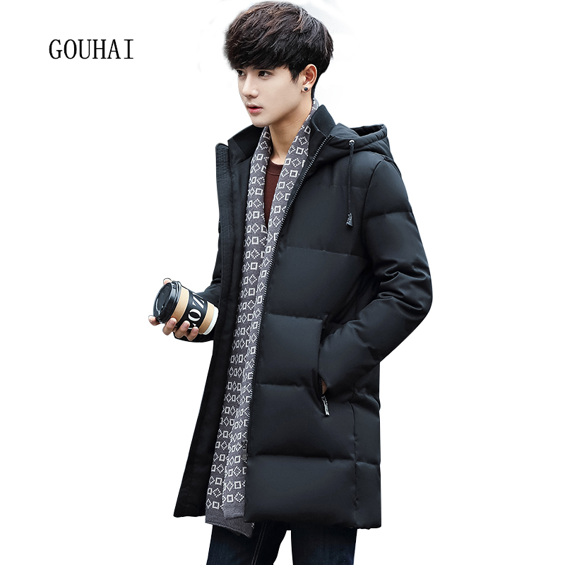 White Duck Down Jacket Mens Winter Jacket Men Warm Solid Long Coat Man Feather Jacket Hooded Parka Homme Plus Size XXL XXXL