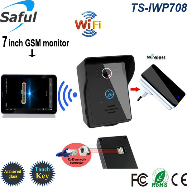 Saful Wireless wifi video intercom door phone camera gsm android/ios video doorbell intercom High definition 7touch screen детская игрушка new wifi ios