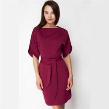 07acafef8e New Arrival 2018 moda damska jesień rocznika elegancka sukienka panie lato  dorywczo elegancki Batwing rękaw Mini sukienka