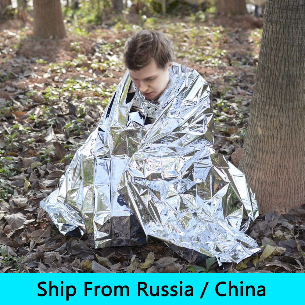(Ship From Russia / China) OUTAD 10bag /lot Outdoor Waterproof Windproof Reusable Emergency Survival Thermal Blanket russia culinary guidebook
