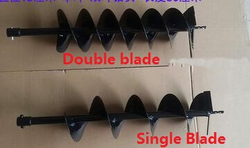 150mm Double SINGLE DRILL BIT earth drill blade Earth Auger head for Gasoline Engine Electric Hammer