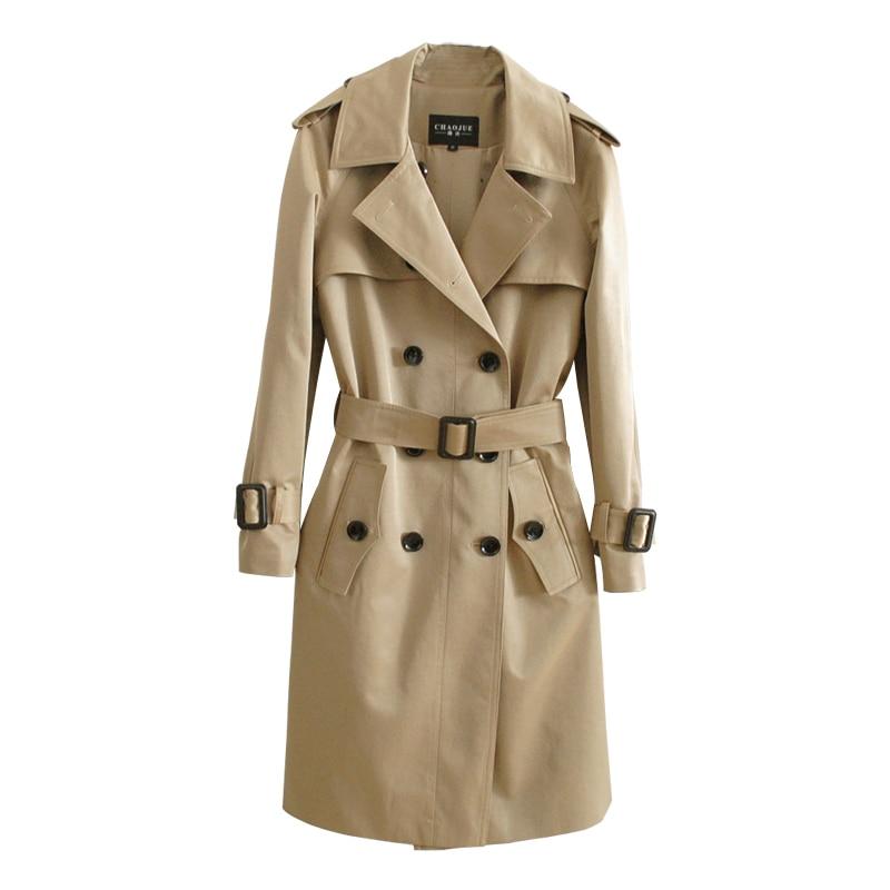 Lange Hochwertigen Lose 20OFF Mantel Outwear Frauen 02 CHAOJUE Mäntel Plus als US85 Trench London Khaki Marke Britischen Damen Größe Junge n0O8PkXw