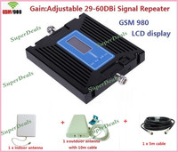 Full Sets Newest LCD Display High Gain Adjustment 29 60dbi GSM 900Mhz Signal Booster Mobile Signal