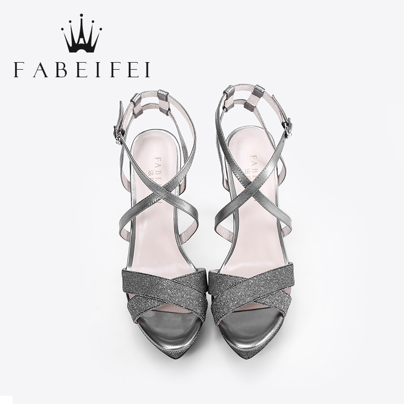 l407 2018 fashions pointed toe gray silver girls sexy platform super high  heel stiletto cross strappy sandals shoes woman-in High Heels from Shoes on  ... 23e5434307dd