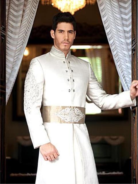 Men New Designer Wedding Groom Indowestern Sherwani Casual Suit Coat
