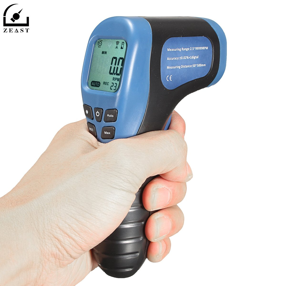 Tachometer Non Contact Digital Laser Photo Tachometer Gun RPM Tach Tester Meter Speed Gauge hot sale professional digital non contact stroboscope dm6237p flash frequency meter 60 19 999 rpm per minute tachometer tester