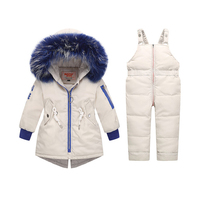 2019 Winter Baby Girls clothing Sets Children Down Jackets Kids Snowsuit Warm baby Ski suit down Jackets Outerwear Coat+Pants
