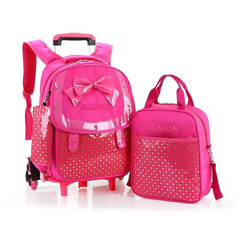 Aliexpress.com : Buy 2016 School Bag Rolling Backpack children ...