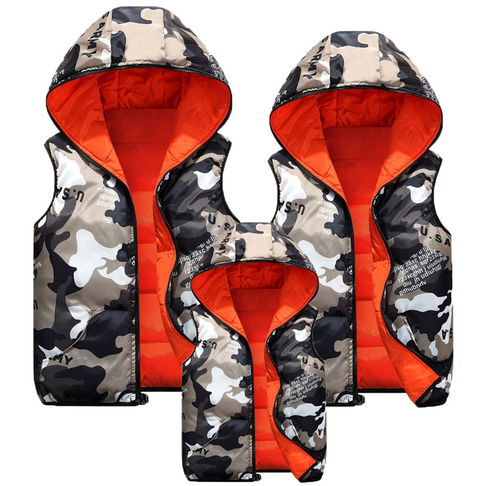 ecbcd10170ea 2018 Family Matching Outfit Baby Camouflage Dual Purpose Hooded Mom Dad  Kids Coat Jacket Boy Girl Cloak Winter Thicken Clothes-in Matching Family  Outfits ...