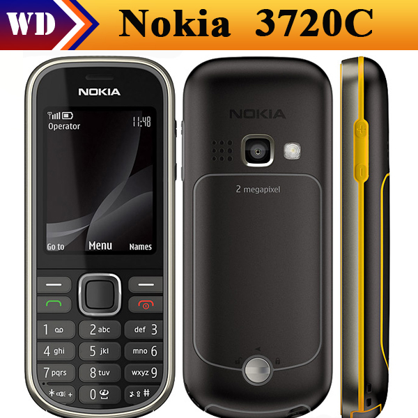 Цена за Мобильный телефон Nokia, 3720 классическая 2 mp Camrea разблокированный отремонтированный