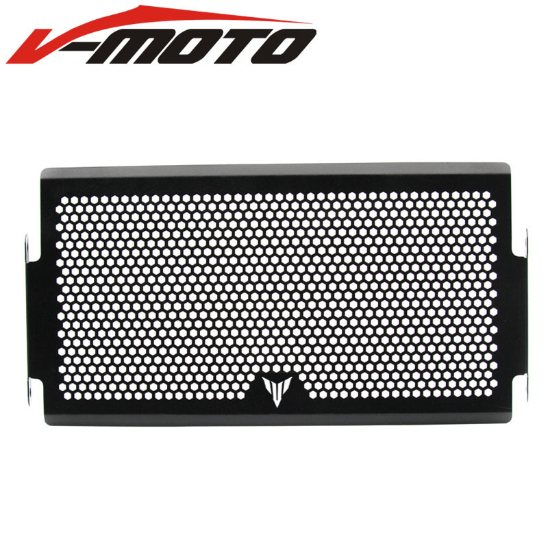 ცხელი გაყიდვები BLACK Frosted Style Motorcycle Radiator Grille Guard Cover Protector For YAMAHA MT07 MT-07 mt 07 FZ-07 2014 2015 2016