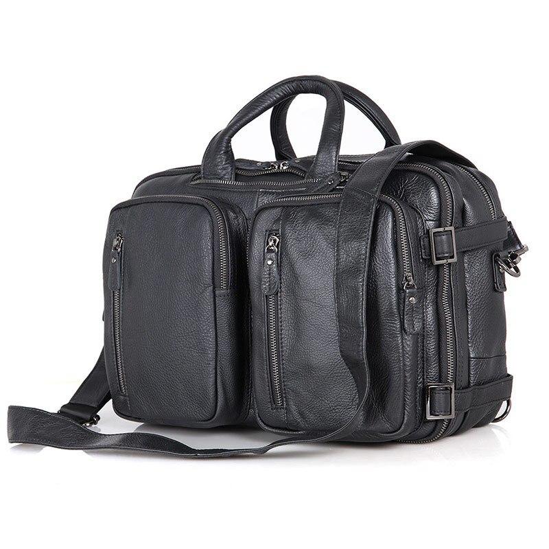 Nesitu Highend Vintage Black Brown Coffee Genuine Leather Office Men Briefcase Business Travel Messenger Bags Portfolio M7014