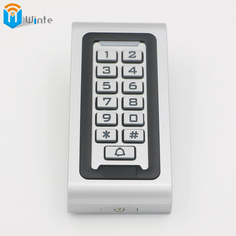 Waterproof RFID 125KHz Access Controller Reader Keypad With Metal Case High-performance Metal Standalone Access Control Winte metal rfid em card reader ip68 waterproof metal standalone door lock access control system with keypad 2000 card users capacity