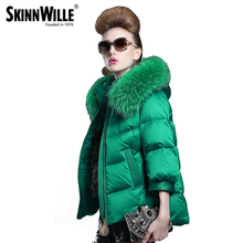 skinnwille womens winter jackets and coats fur collar women 2016 female winter jacket women's winter jacket down coat fur coat