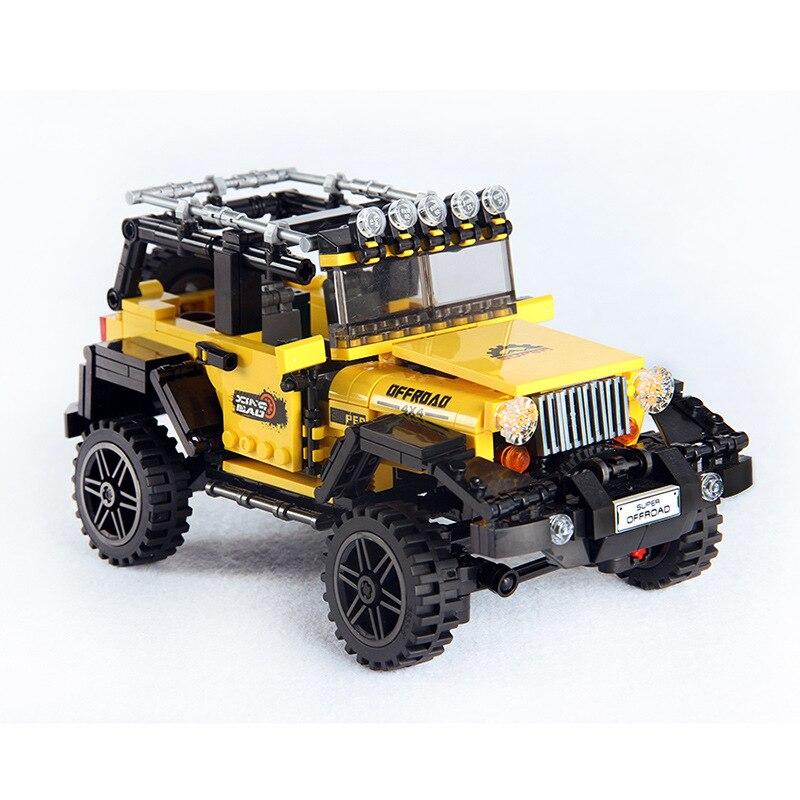 610pcs Offroad Aventura Conjunto de Blocos de Construção Tijolos Brinquedos Para Crianças Educacional Crianças Presentes Modelo de Série Do Carro Compatível Legoings