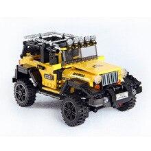 610pcs Offroad Avventura Set di Blocchi di Costruzione di Serie Auto Giocattoli Dei Mattoni Per I Bambini Educativi Regali Per Bambini Modello