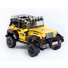 610pcs 오프로드 모험 세트 빌딩 블록 자동차 시리즈 벽돌 장난감 교육 어린이 선물 모델