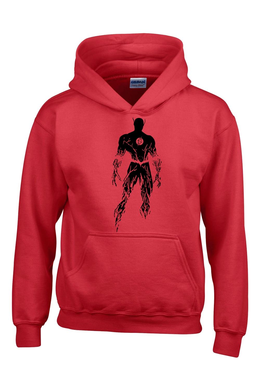 The Flash Hoodie Barry Allen Star Lab Red Color Mens Sweatshirt Hoodie Men Novelty Heroes Pullover Clothes Arrow Friend