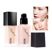 Facial makeup concealer waterproof moisturizing lasting light feather nude muscle moisturizing liquid foundation цена