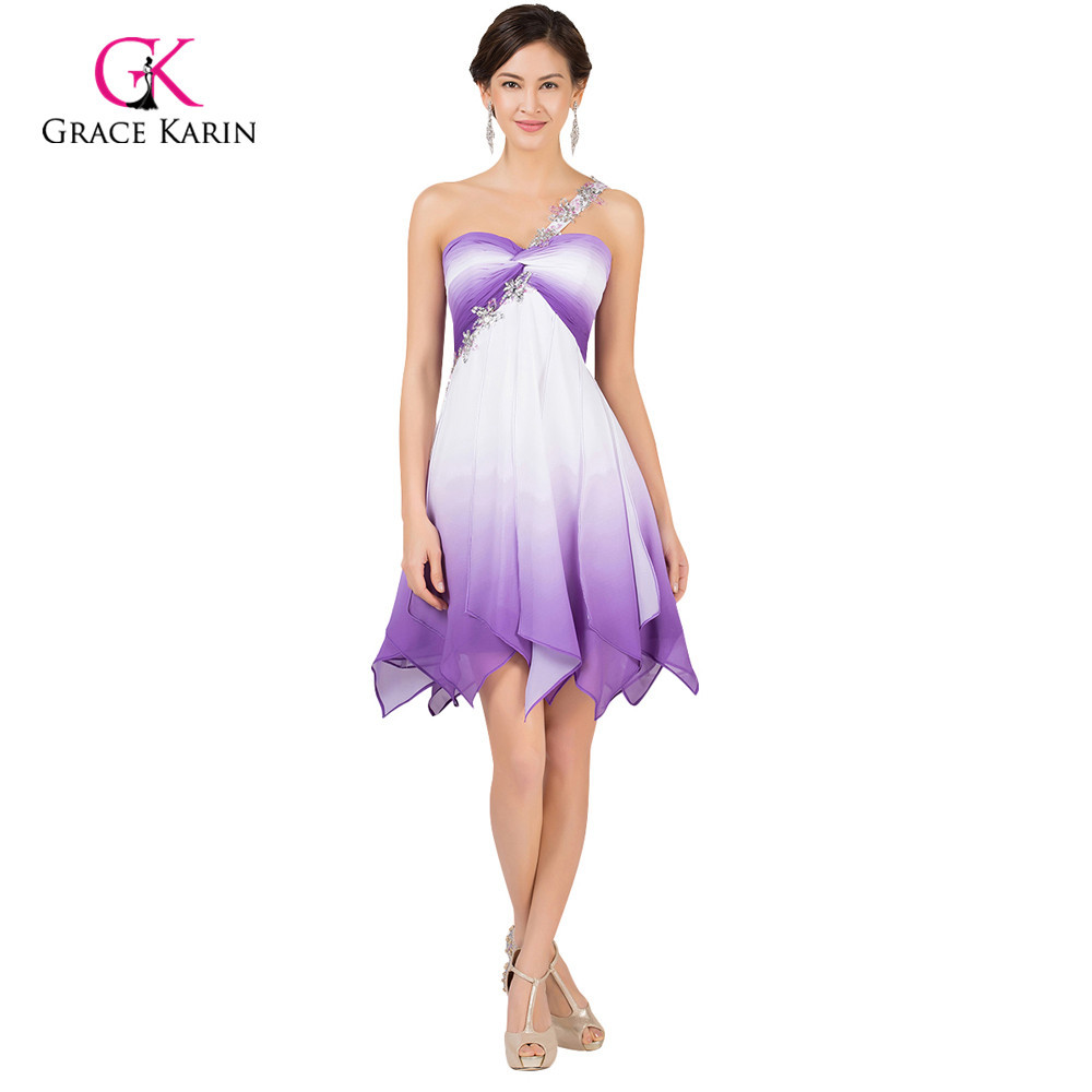 Grace karin a line ombre colorful cheap short bridesmaid dresses grace karin a line ombre colorful cheap short bridesmaid dresses under 50 one shoulder chiffon padded wedding party dress 2017 in bridesmaid dresses from ombrellifo Gallery