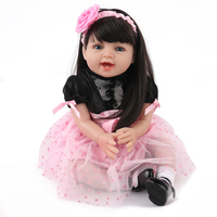 New Reborn Baby Doll Soft Silicone Vinyl Real Touch Newborn 22''/55cm princess bebes reborn girl toys bonecas