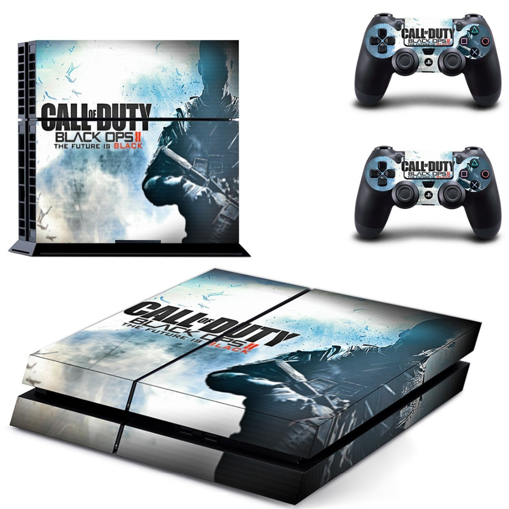 Vinyl Sticker PS4 Skin Decal Sticker For PlayStation4 Console and 2 controller skins - Call of Duty Black OPS II