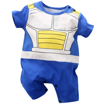 Yierying Baby Clothes Baby Rompers 100% Cotton Dragon Ball Vegeta Jumpsuits Newborn Baby Lovely Short Sleeve Cartoon Clothing yierying baby clothing autumn and winter baby rompers long sleeves cotton hooded infant clothes cartoon newborn jumpsuits
