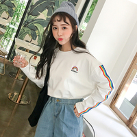New Korean Institute Of Wind All Match Loose Thin Long Sleeved T Shirt Bottoming Shirt